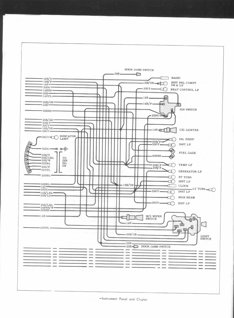 65 Chevelle Wiper Motor Wiring Diagram Free For You School Bus 67 Nova Dash Engine Image